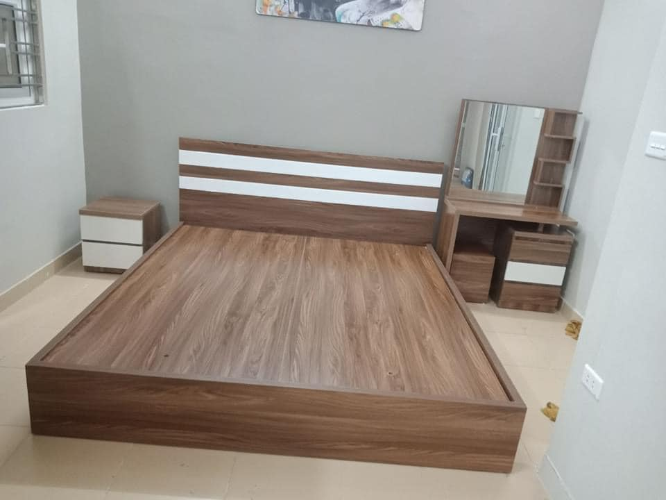 Giường MDF 1.8x2m không ngăn kéo
