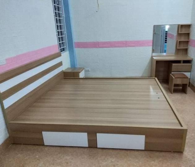 Giường MDF 1.8x2m có 2 ngăn kéo