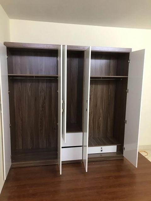 Tủ áo 2x2m 5 cánh 2 ngăn kéo