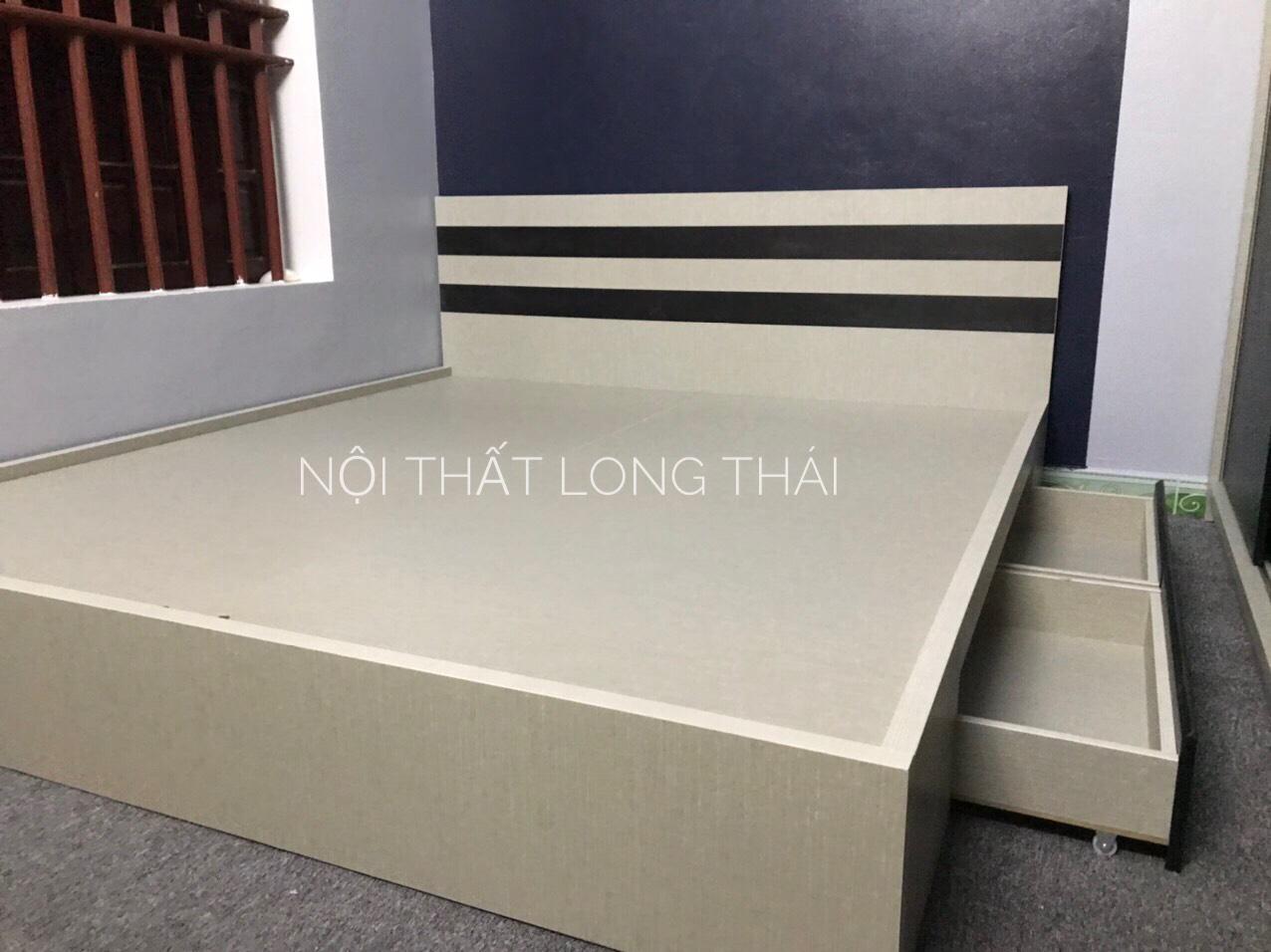 Giường MDF 1.6x2m có 2 ngăn kéo