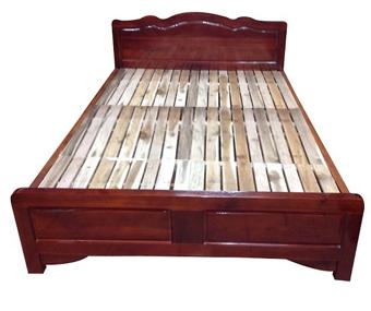 Giường 1m2x1m9 gỗ keo tự nhiên