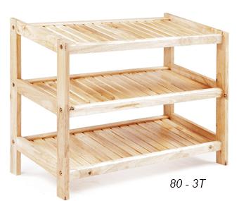 Kệ dép gỗ cao su rộng 80 cm