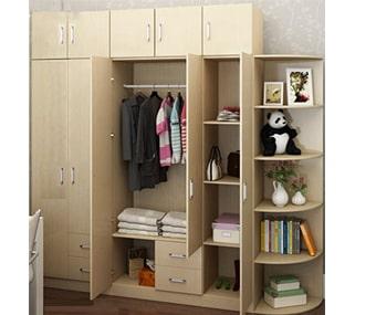 Tủ áo 2 tầng gỗ MDF 2m4 màu trắng kẻ