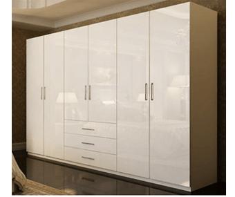 Tủ áo gỗ mdf 2m4 màu trắng