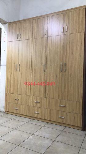 Tủ áo 2x2.4m 5 cánh ngăn kéo 2 tầng