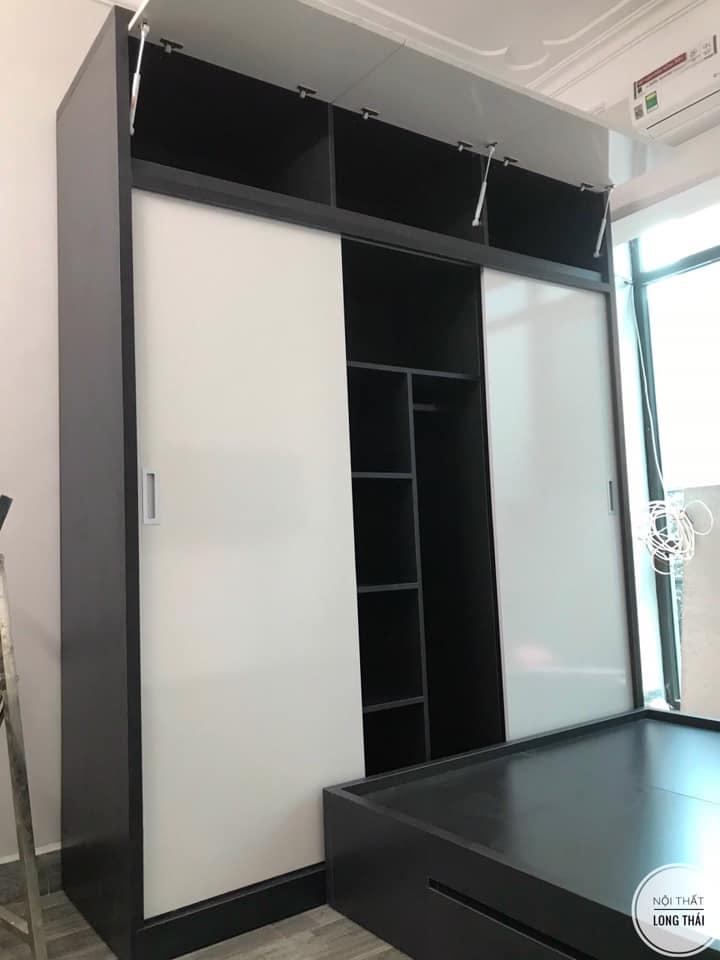 Tủ quần áo 2x2.4m 3 cánh lùa