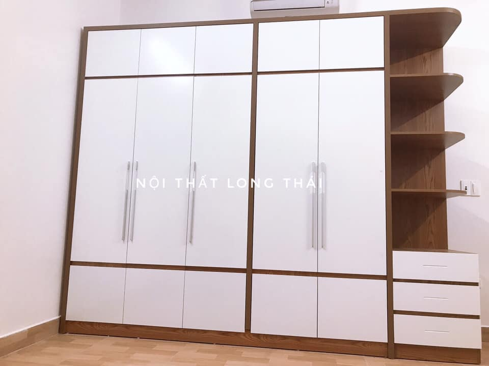 Tủ quần áo 2.9x2.4m có kệ trang trí