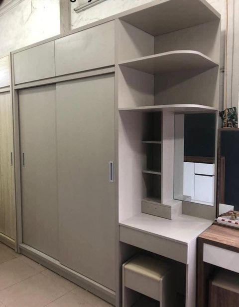 Tủ quần áo 2.2x2.4m kết hợp bàn trang điểm