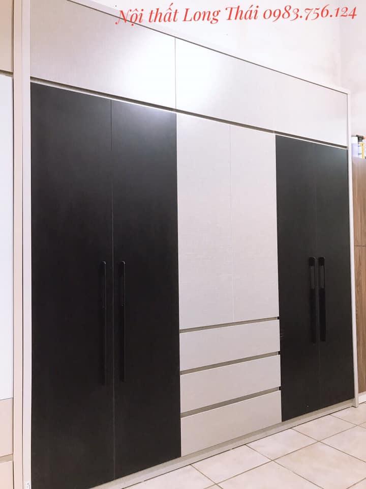 Tủ quần áo 2.4x2.4m 6 cánh mở