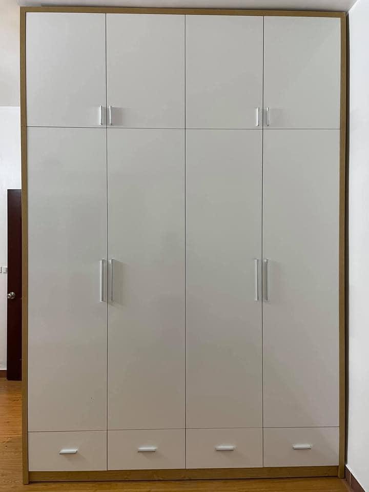 Tủ áo 1.6×2.4m 2 tầng 4 cánh 2 ngăn kéo