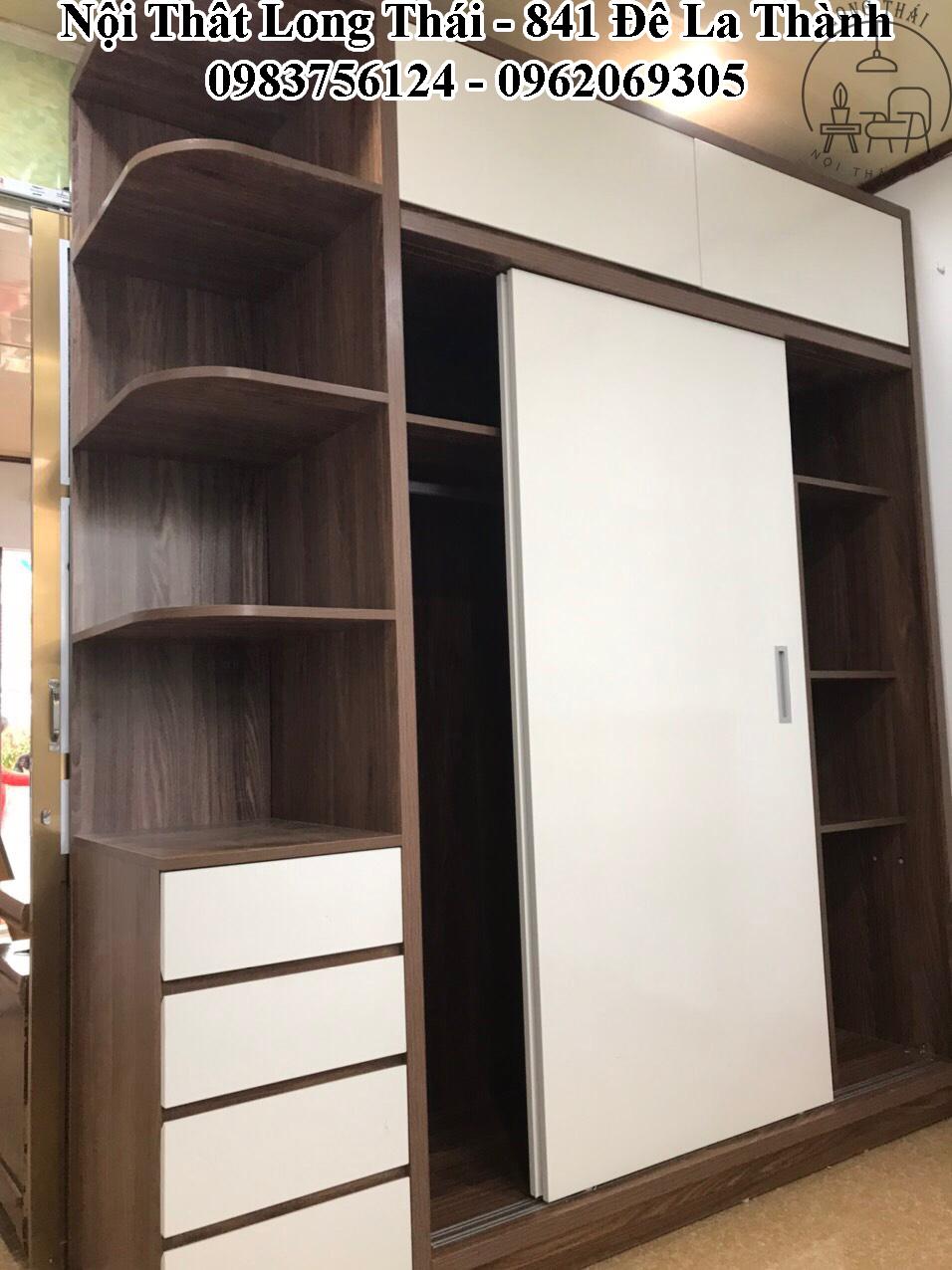Tủ quần áo 2x2.4m cánh lùa 2 tầng