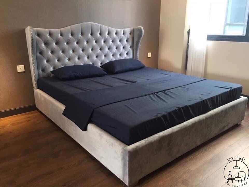 Giường MDF bọc nỉ sang trọng 1.6x2m và 1.8x2m