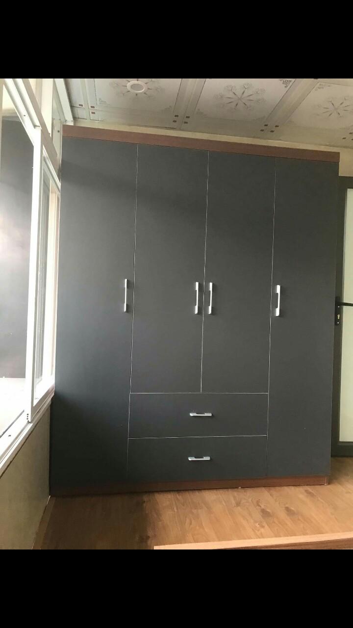 Tủ áo 1.6x2m 4 cánh 2 ngăn kéo