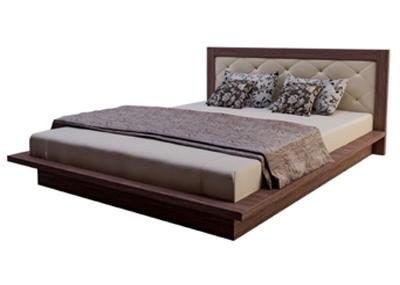 Giường MDF dáng bệt đầu bọc nệm